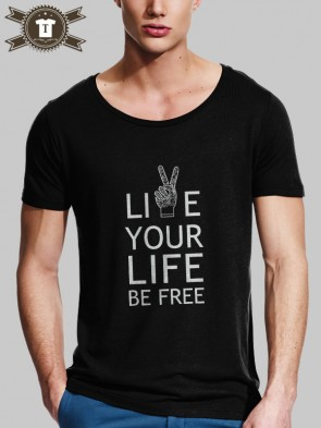 Live Your Life / T-Shirt Wide Neck