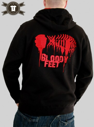 Bloody Feet / Premium Bi-Color Zip Hoodie Men - stitched!