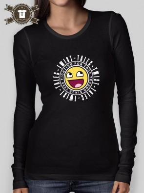Talec Twist - Fighting for true Techno - Smiley / Longsleeve Shirt Women