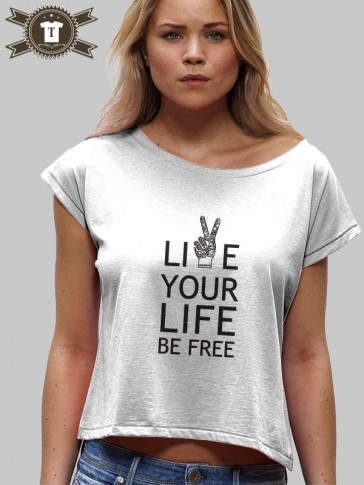 Live Your Life / Girl Shirt Wide Neck