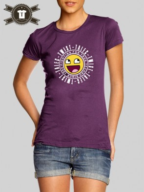 Talec Twist - Fighting for true Techno - Smiley / Girlie Shirt