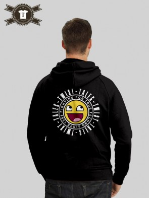 Talec Twist - Fighting for true Techno - Smiley / Hoodie Men