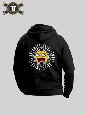 Talec Twist - Fighting for true Techno - Smiley / Hoodie Women