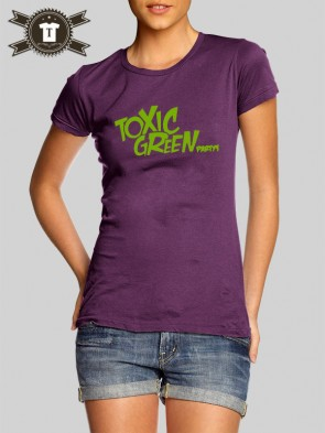 Toxic Green - Party's / Girlie Shirt